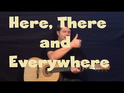 Here There And Everywhere (The Beatles) Guitar Lesson How To Play Tutorial