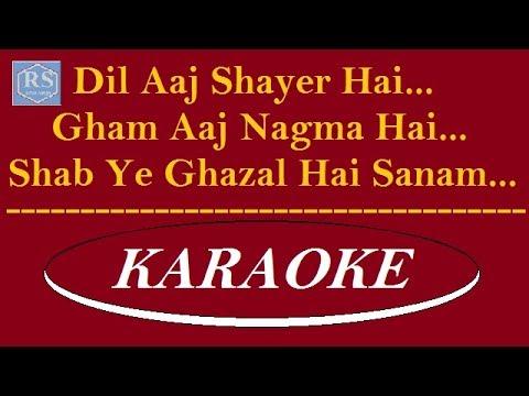 Dil aaj shayar hai karaoke | Kishore Kumar | HD Karaoke Track