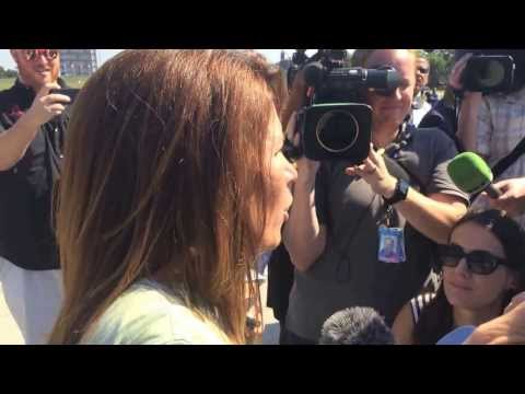 Michele Bachmann at WWII Memorial
