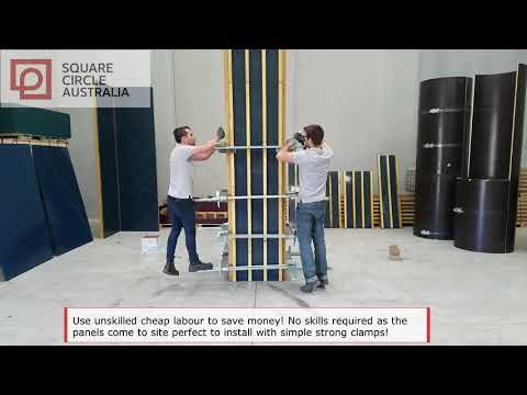 The Fastest Square and Rectangle Column Formwork With Clamp