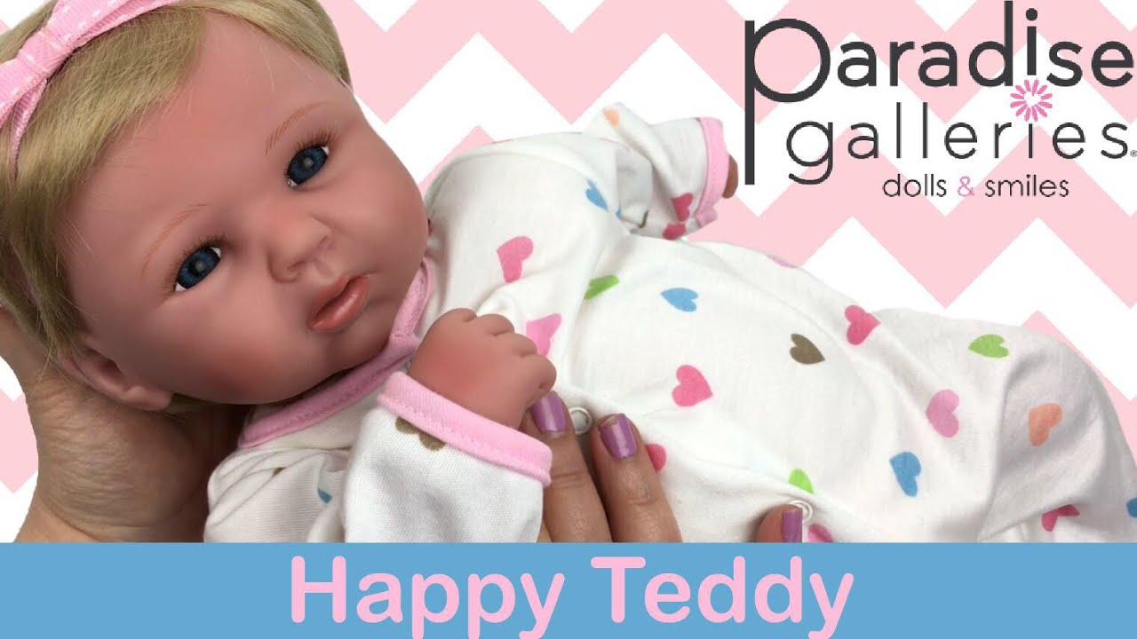 25fe9b89d7af Paradise Galleries Happy Teddy Doll Unboxing. Sweetheart Babies