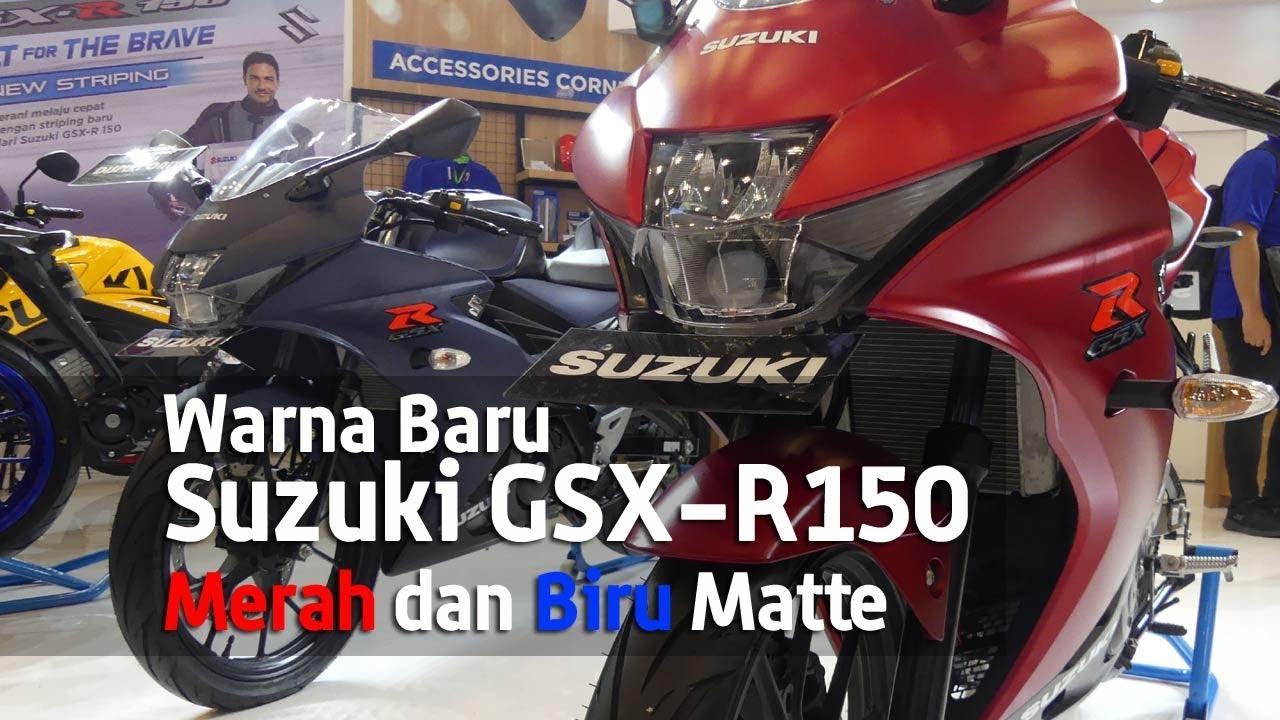 Vlog Warna Baru Suzuki Gsx R150 Merah Biru Matte Di Giias2018