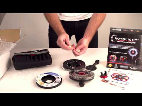 Unboxing Rotolight LR48 interview-kit