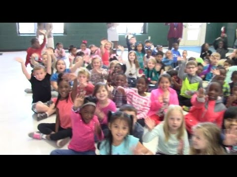 Rob Fowler visits the 1st, 2nd Graders at Eagle Nest Elementary School