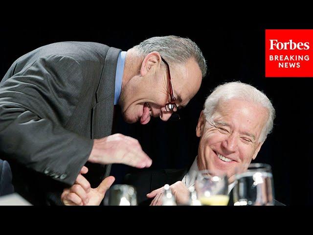 President Biden thanks Chuck Schumer after American Rescue Plan passes Senate