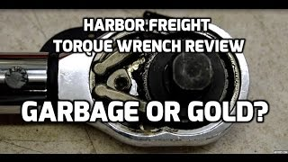 Harbor Freight torque wrench 8-year review and accuracy test