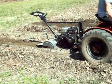 PowerKing Tractor With Craftsman Tiller   YouTube