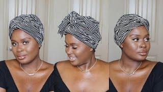 How Tie a Turban Headwrap THREE Ways | Jasmine Mitchell