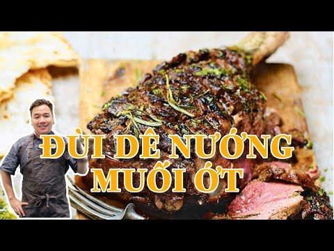 Đùi dê nướng muối ớt - Vua đầu bếp miệt vườn - Chef Ben Vado
