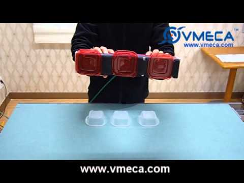 VMECA V-Grip System - handle plastic container and its lid (cover)