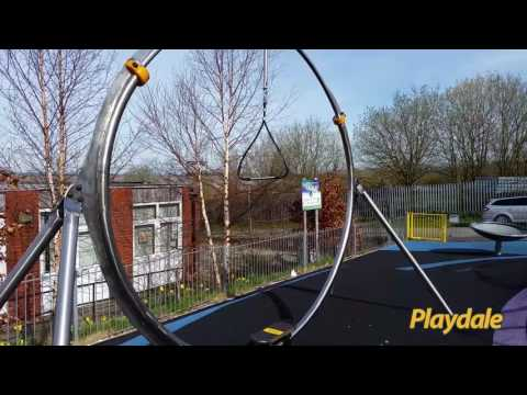 Playdale Playgrounds - Stainless Steel Board Rider At Fife Street Play Area, Accrington, Lancashire