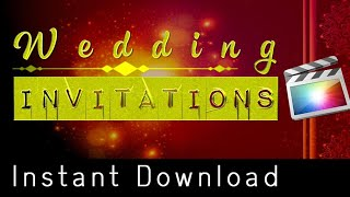 Wedding Cinematic Invitation Project Demo with Training Tutorial in Hindi in FCP X | Final Cut Pro X
