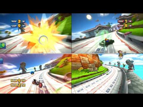Sonic & Sega all Star Racing 9 lap marathon  