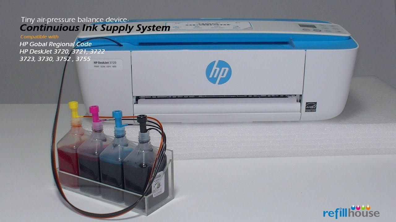 Hp Deskjet 3700 3720 3755 Ciss Hp 65 805 304 123 Youtube