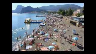 Судак 2012. Пляжное в середине июня.(18 июня 2012. Несколько пляжных и около картинок на побережье и пляже в Судаке (Крым. Украина).