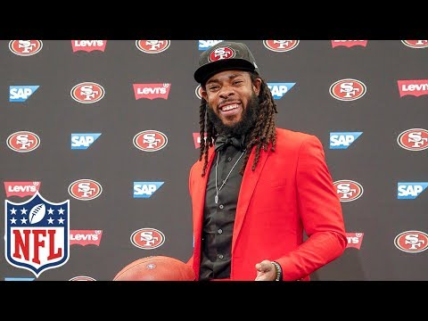 "Richard Sherman, ""The biggest misconception is that it's a bad deal,"" at 49ers Intro Presser 