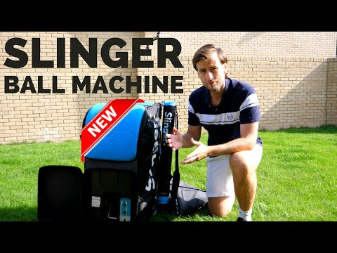 Slinger Ball Machine Unboxing & Review - Tennis Ball Machine Slinger Bag Reviews