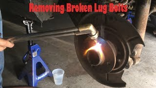 How to remove broken lug bolts