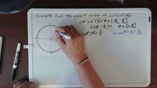 14. Find cot(arcsin(1/3))