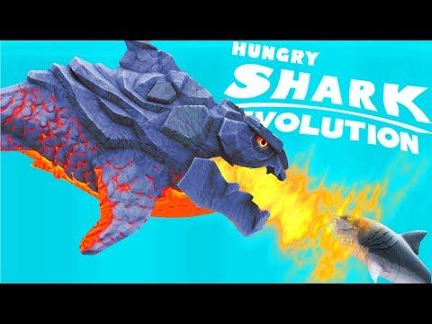 ОГНЕННАЯ АКУЛА СОЖГЛА ВСЕХ АКУЛ   Hungry Shark Evolution
