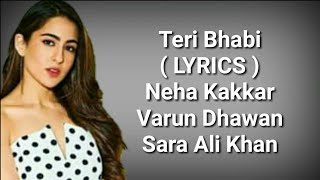 Teri Bhabhi ( LYRICS ) Coolie No.1| Varun Dhawan, Sara Ali Khan | Javed - Mohsin Ft. Dev N & Neha K