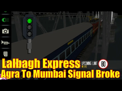 Lalbagh Express Train Simulator,Agra To Mumbai Signal Broke at Night Weather Fog
