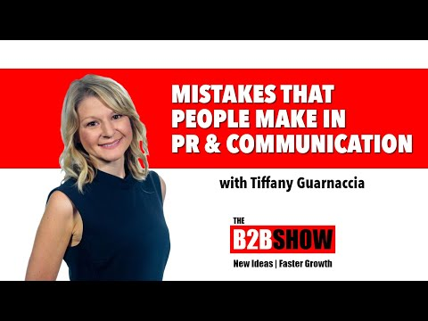 Mistakes people make in PR and Communication