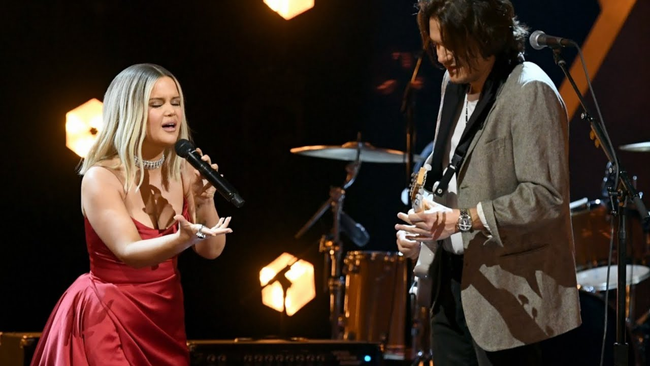 John Mayer joins forces with Maren Morris to perform The Bones at ...