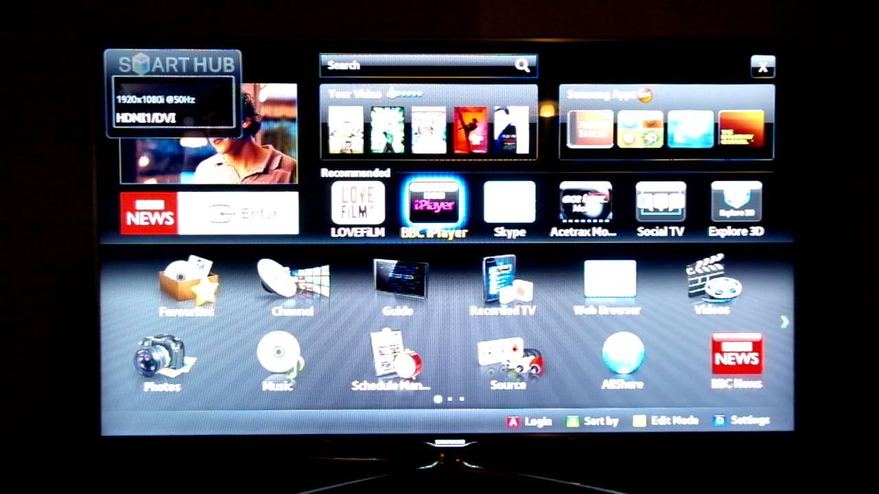 Download walk through of Samsung UE55D8000 Smart Hub