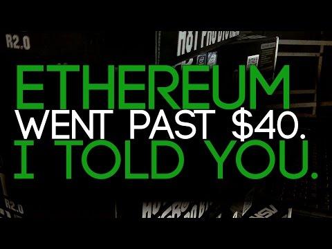 Ethereum BIG Mining PROFITS +$15/Rig a DAY! #ETH Passed $40.