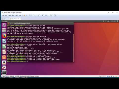 Install Software P4: L2TP VPN - Install And Configure L2TP VPN On Ubuntu By Only Terminal