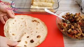 Beşamel soslu tavuk etli krep sarma tarifi - Tavuk etli krep börek nasıl yapılır - Yemek tarifleri