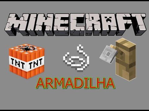 Minecraft: Como Fazer Armadilha Com Gancho, Linha E TNT
