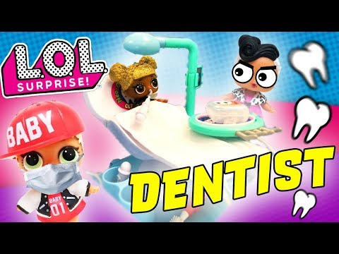 LOL Doll Queen Bee Goes to Dentist Dollface at the Neo Ortho Clinic! MC Swag Caught Her w Candy