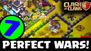 Clash of Clans - PERFECT WARS - 7 Perfect Clan Wars!