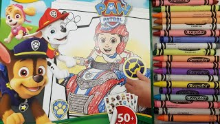 power petrol Crayola coloring Crayola crayons Rubble marshall & chase coloring Page