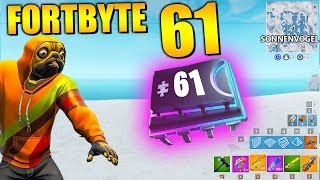 Fortnite Fortbyte 61 - Sunbird | All Fortbyte Places Season 9 Utopia Skin English