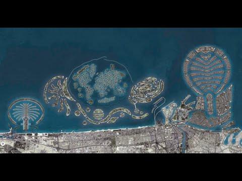 Dubai – The World Island project  , Jumeirah Palm , Burj Khalifa