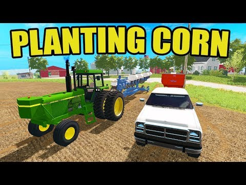 FARMING SIMULATOR 2017 | PULLING THE PLANTER OUT OF THE SHED & PLANTING CORN | NO CREEK EP #3