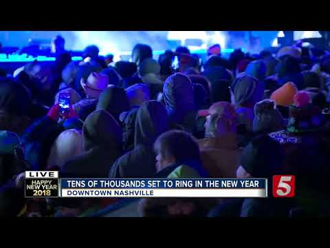 Thousands Ring In New Year In Nashville Despite Cold Temps