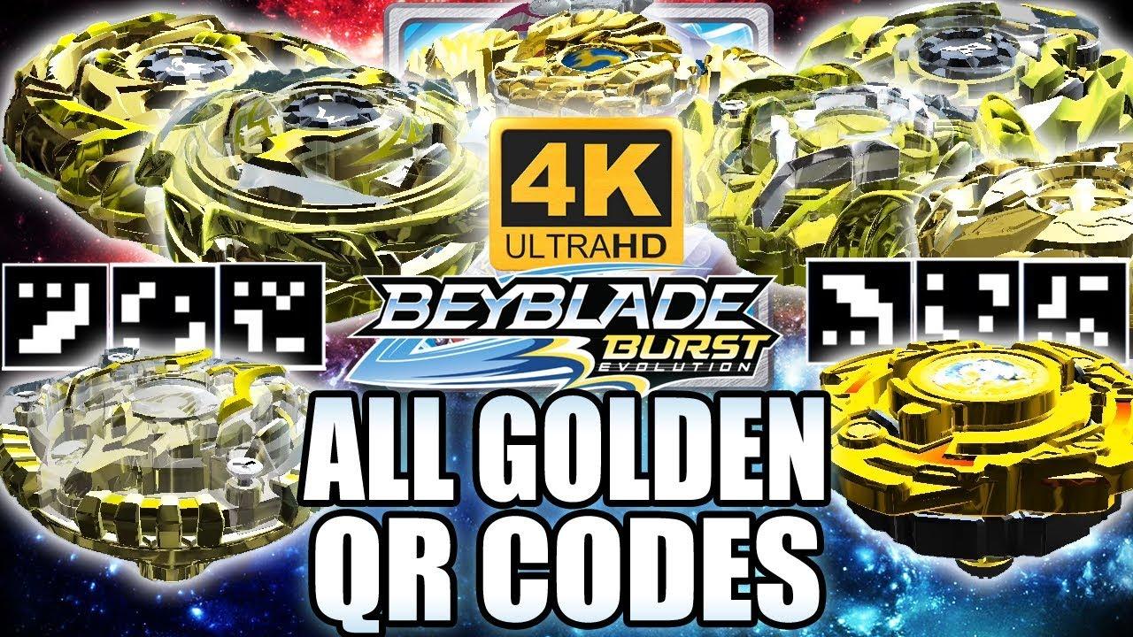 TODOS QR CODES BEYBLADES DE OURO EM 4K! ALL GOLDEN BEYBLADES QR CODES IN 4K BEYBLADE BURST APP #1