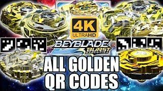 TODOS QR CODES BEYBLADES DE OURO EM 4K! ALL GOLDEN BEYBLADES QR CODES IN 4K BEYBLADE BURST APP