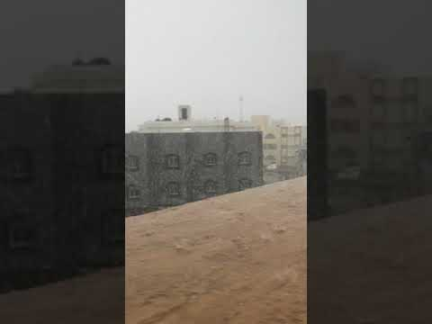 2017 Jeddah heavy rain and flood live video