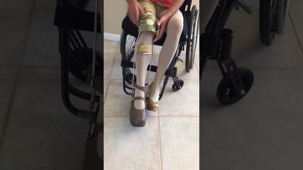 heels Wheelchair woman