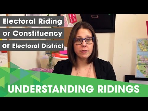 What is an electoral riding?