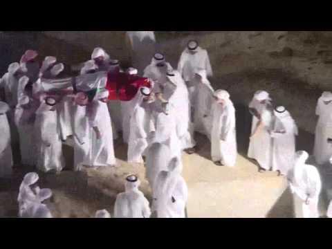 Sheikh Rashid laid to rest in Dubai - YouTube