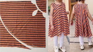 cute designer and stylish baby kurti dress design very easy cutting and stitching.