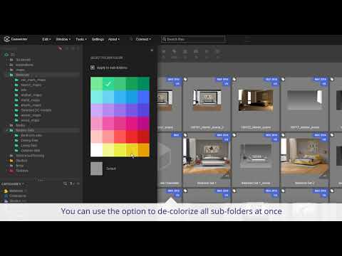 Selecting Multiple Folders - Connecter: 3d Assets Manager