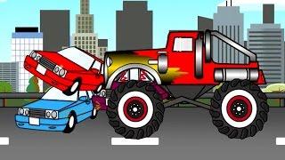 Monster Truck Makineleri çocuklar için peri Masalları (çizgi film çocuklar için)