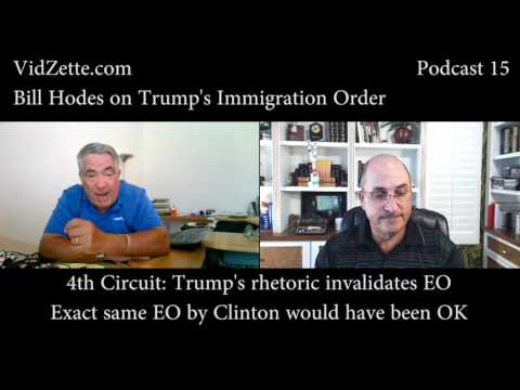 Legal analysis of the Trump's Immigration Order at the 4th Circuit